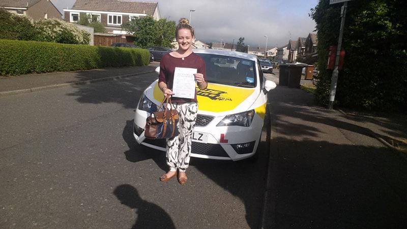 Jennifer Currie, test success at Currie, Edinburgh